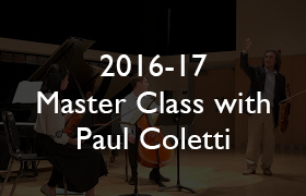 2016-17 Master Class with Paul Coletti
